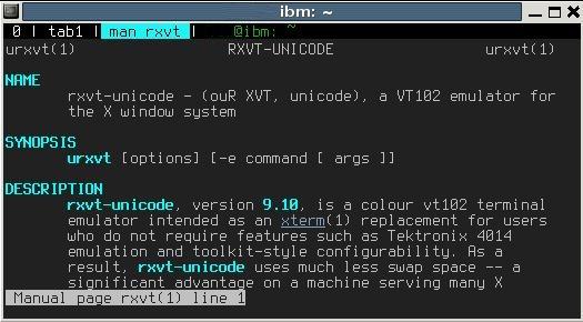 Настройки Rxvt черезе Xdefaults