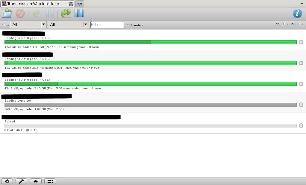 Rtorrent Interface