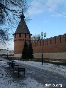 Вид на башню тульского кремля