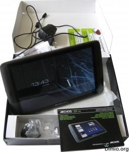 Обзор внешнего вида Archos 101 G9, комплектация планшета