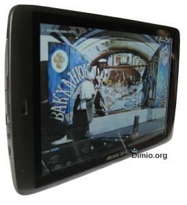 Углы обзора экрана планшета Archos 101 G9