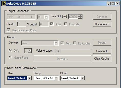 Подключение NFS в Windows при помощи клиента NekoDrive