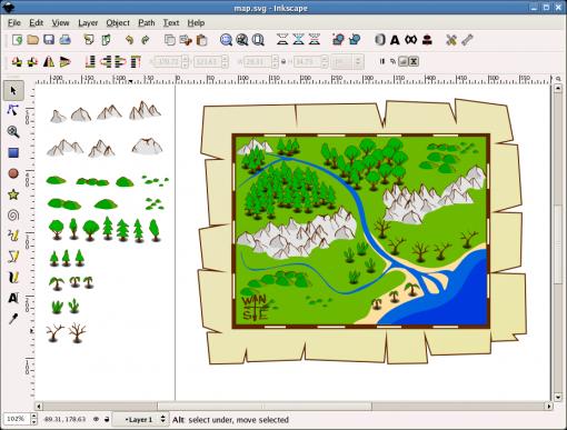 Бесплатный редактор векторной графики Inkscape