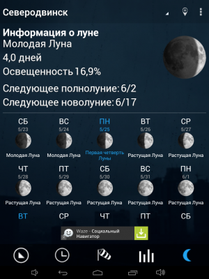 Виджет погоды Android
